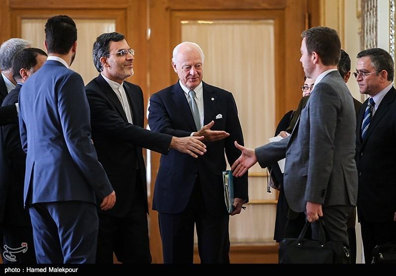İran Dışişleri Bakanı Yardımcısı ile BM'nin Suriye Özel Temsilcisi Görüştü