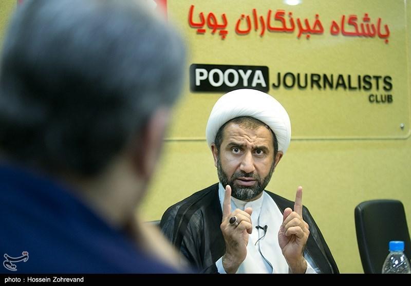 حضور شیخ محمد حسن خجسته عضو شورای علمای بحرین در باشگاه خبری پویا