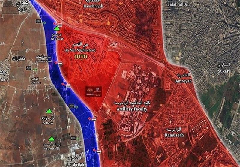 Halep'te Teröristlere Düzenlenen Saldırının Üçüncü Aşamasında Teröristlere Ağır Bir Darbe Vuruldu