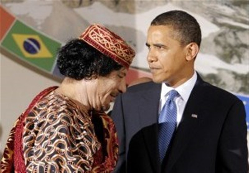 قذافی اوباما