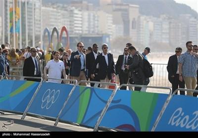 حضور جان کری وزیر امور خارجه آمریکا در حاشیه مسابقات دوچرخهسواری - المپیک 2016 ریو