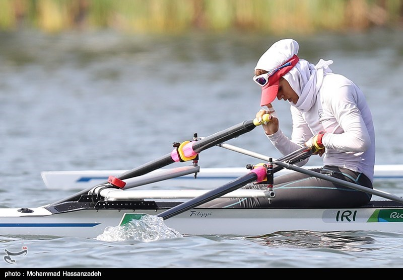 عکس مهسا جاور در مسابقات المپیک,عکس مهسا جاور ,تصاویر مهسا جاور ,مهسا جاور در حال پارو زدن