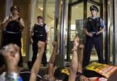 تظاهرات در شیکاگو در اعتراض به خشونت پلیس آمریکا علیه سیاهپوستان
