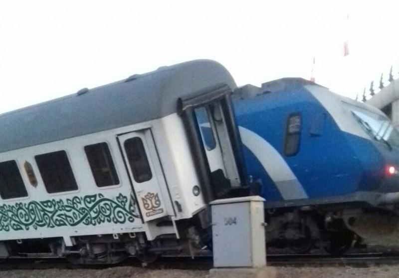 قطار سروش خبرگزاری تسنیم - برخورد قطار فدک با ترنست رجاء+عکس