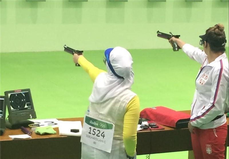 گزارش تصویری/ رقابت گلنوش سبقتاللهی در مرحله مقدماتی تپانچه