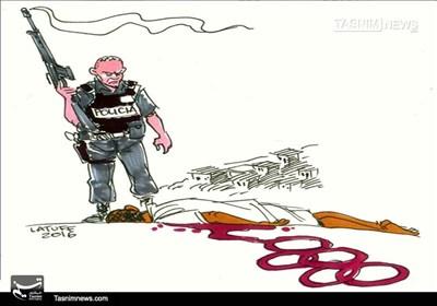 کاریکاتور/ آمریکا برنده مدال تیراندازی!!!