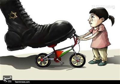کاریکاتور/ دزدی صهیونیستی از یک کودک فلسطینی