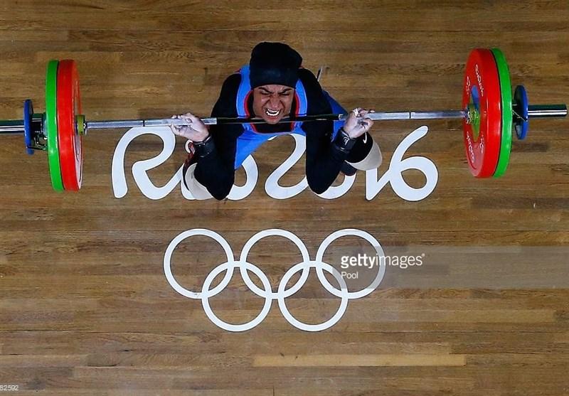 """""""آیشا محمد""""وزنه بردار محجبه امارات در المپیک"""