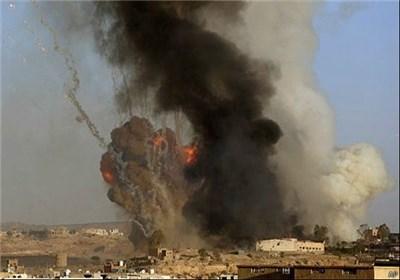 مجزرة سعودیة جدیدة فی نهم بصنعاء