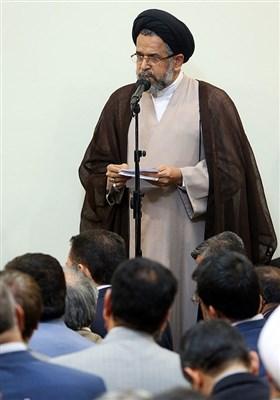 ارائه گزارش حجتالاسلام سیدمحمود علوی وزیر اطلاعات محضر مقام معظم رهبری