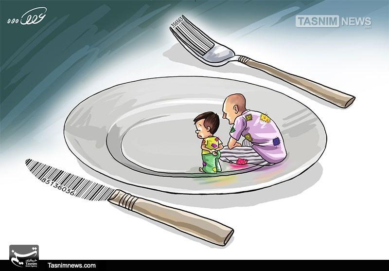 کاریکاتور/ گرانی، تورم، رکود در سفره مردم