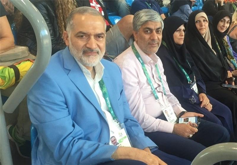 مسئولان کمیته ملی المپیک در محل برگزاری مسابقات تیراندازی حضور یافتند + عکس