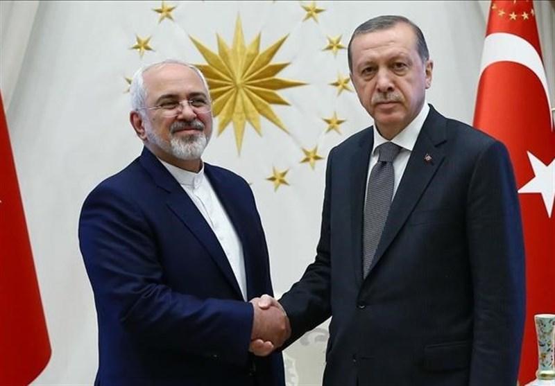 İran Dışişleri Bakanı Zarif, Erdoğan ile Görüştü