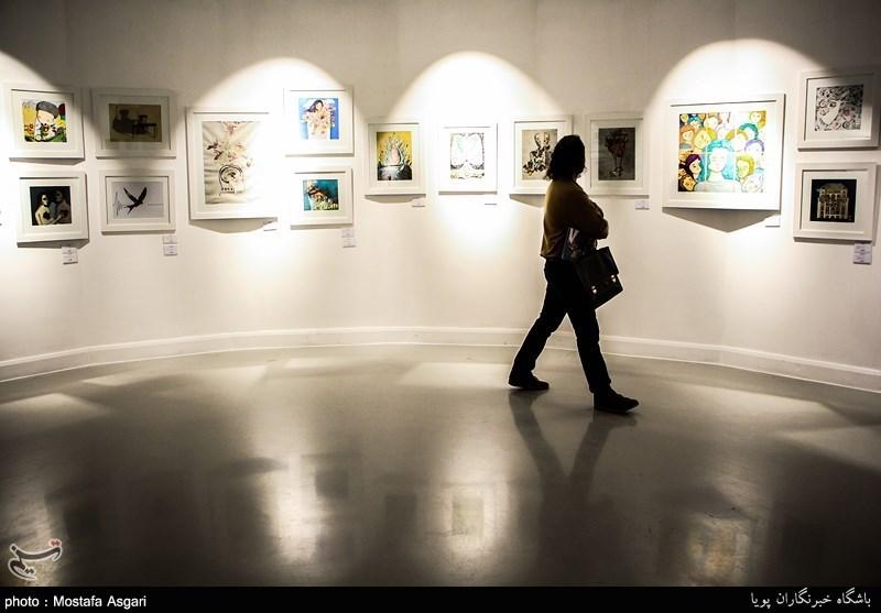 نمایشگاه آثار نخستین جشنواره هنرهای تجسمی نَفَس