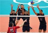 دیدار تیم ملی والیبال ایران و روسیه به روایت تصویر