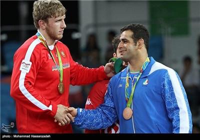 کسب مدال برنز قاسم رضایی در مسابقات کشتی فرنگی - المپیک ریو 2016