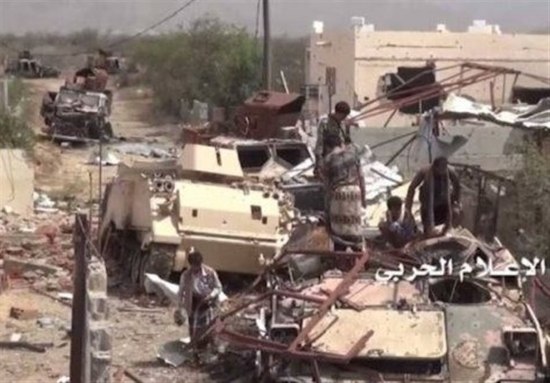 القوات الیمنیة تقضی على 19 آلیة سعودیة فی جیزان