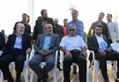 محمود گودرزی وزیر ورزش و تمرین استقلال و شهاب جهانیان و مسعود معینی و افتخاری