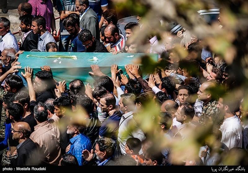 """تشییع پیکر شهید مدافع حرم"""" امیر جعفری """""""