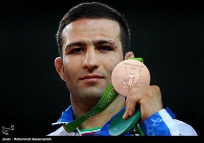 کسب مدال برنز حسن رحیمی در مسابقات کشتی آزاد - المپیک ریو 2016