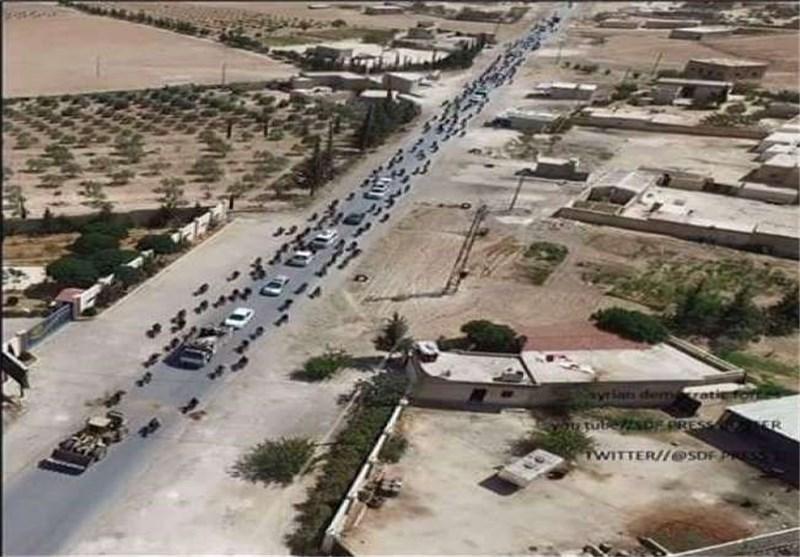 الأمیرکیون یبررون عدم قصف مواکب داعش خارج منبج