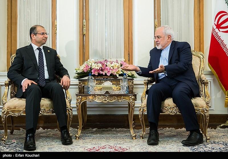 دیدار رئیس مجلس عراق با محمدجواد ظریف