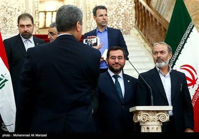 لاریجانی والجبوری یلتقیان ویعقدان مؤتمرا صفحیا مشترکا
