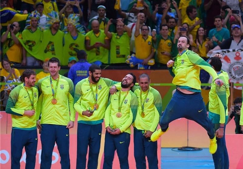 قهرمانی برزیل در والیبال مردان المپیک به روایت تصویر