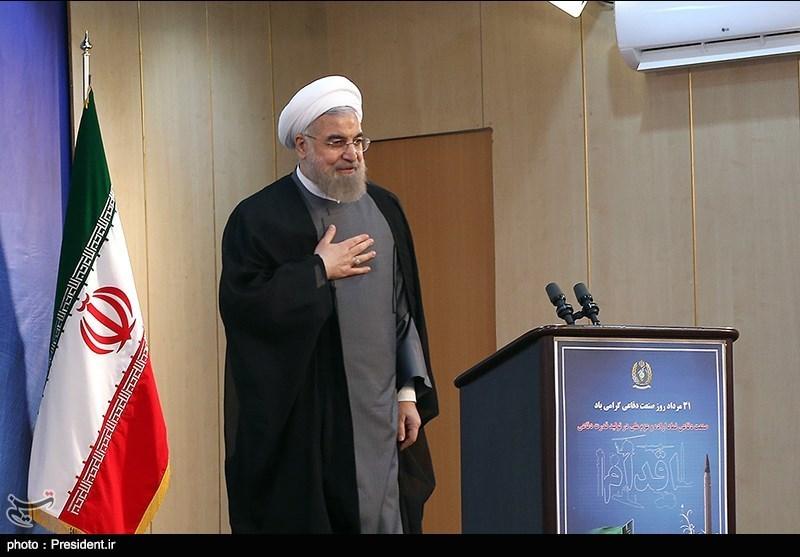 الرئیس روحانی یتفقد معرض قدرات وزارة الدفاع