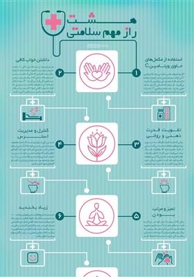 اینفوگرافیک/هشت راز مهم سلامتی