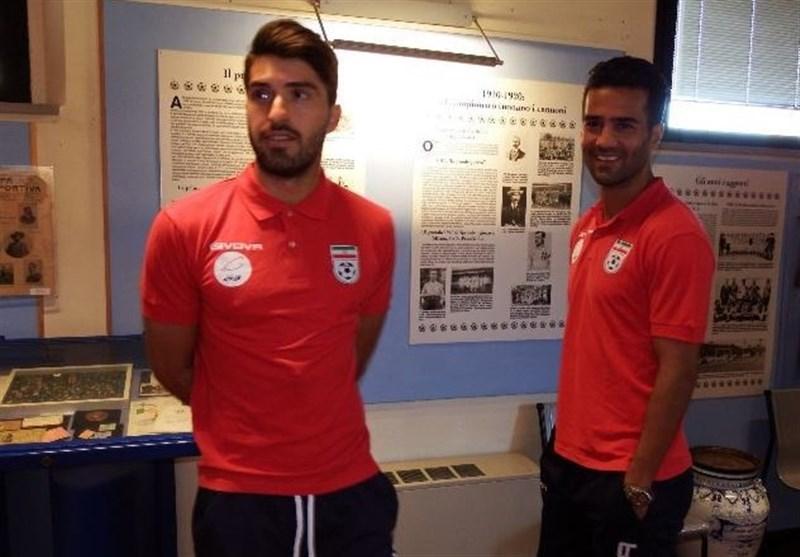 بازدید بازیکنان تیم ملی از موزه تاریخ فوتبال ایتالیا
