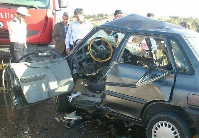 مرگ 3 فوتبالیست در تصادف پراید و 405 در پارس آباد+تصاویر