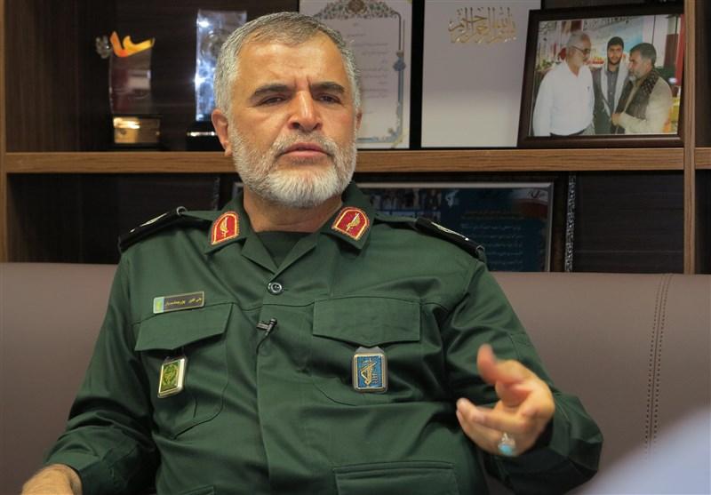 واکنش معاون نیروی زمینی سپاه به حضور ناوهای آمریکایی در خلیج فارس + فیلم