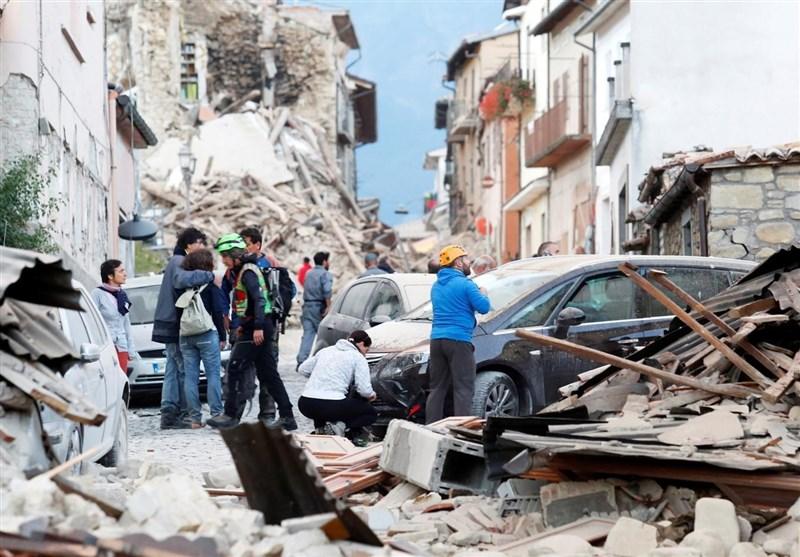 تصاویر زلزله ایتالیا