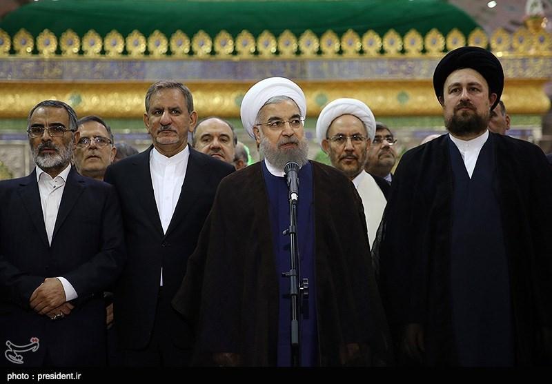 تجدید میثاق رئیس جمهور و اعضای هیئت دولت با آرمانهای امام خمینی(ع)