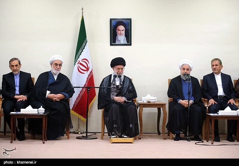 دیدار رئیس جمهور و اعضای هیأت دولت با مقام معظم رهبری