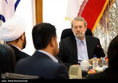 لقاء الشیخ «اکرم الکعبی» مع علی لاریجانی