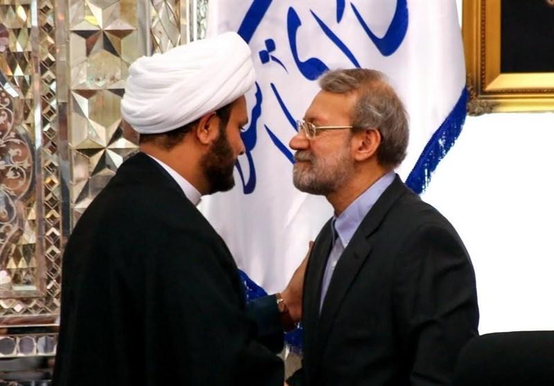 الشیخ الکعبی یلتقی رئیس مجلس الشورى الإسلامی الإیرانی علی لاریجانی
