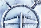 عکس/ یک روز برفی در فرودگاه مینسک بلاروس