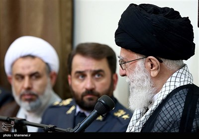 Iranian Air Defense Commanders Meet Leader in Tehran