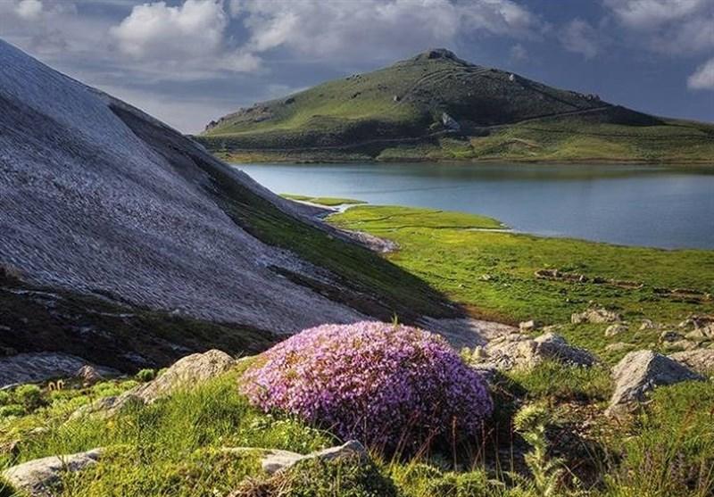 """بحیرة وجبل """"دالامبر"""" فی أذربایجان غرب ایران+صور"""