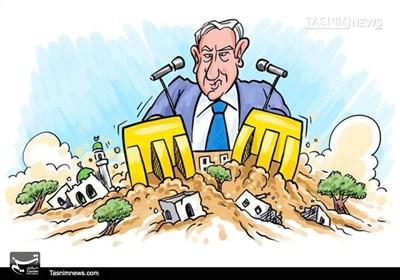 کاریکاتور/ شهرکسازی در مناطق فلسطینی نشین