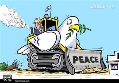 کاریکاتور/ شهرک سازی در مناطق فلسطینی نشین