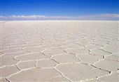 Salt Lake: A Part of the Salt Desert of Iran