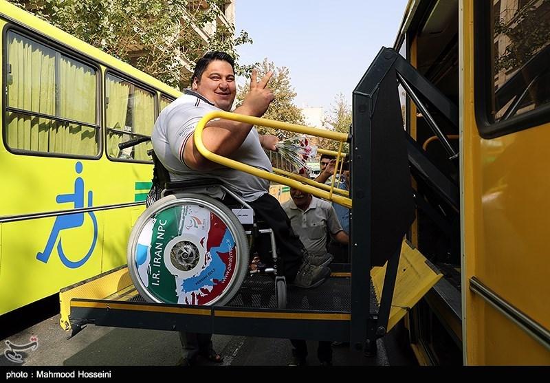 بدرقه کاروان اعزامی به مسابقات پارالمپیک 2016 ریو