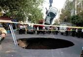 نشست زمین در خیابان پیامبرمیتوانست تبدیل به بحران شود