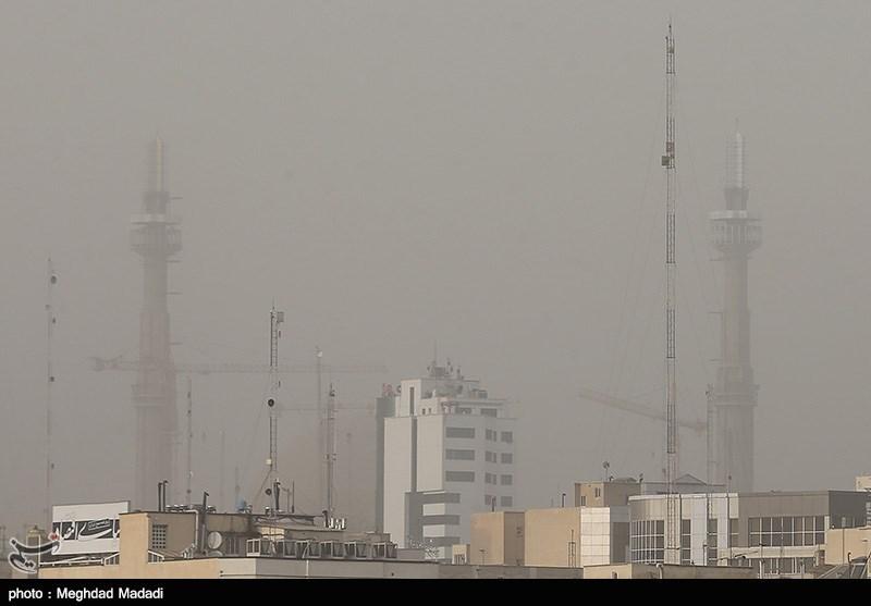 گرد و غبار عصر امروز در تهران