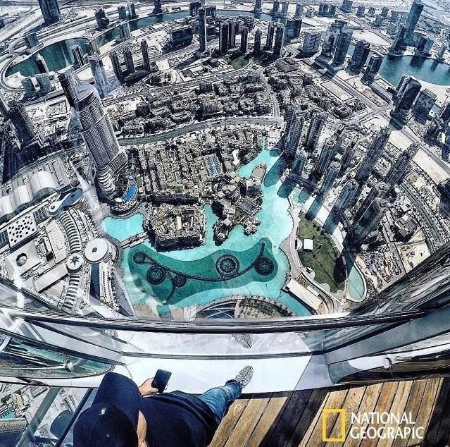 صور منظر لمدینة دبی من فوق برج خلیفة الأخبار منوعات وکالة