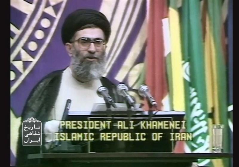 پخش سخنرانی کوبنده و تاریخی آیت الله خامنهای در هراره از شبکه مستند