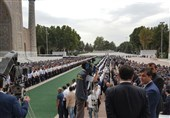 ظریف در مراسم تدفین اسلام کریم اف + عکس
